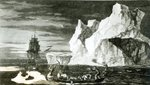 The Ice Islands on the 9th January 1773, engraved by B. T. Pouney, 31st Feb 1777 (engraving) (b/w photo) Fine Art Print by Francois Auguste Biard
