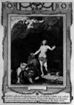Daniel preserved in the Lion's den, from 'The New and Complete Book of Martyrs', by Paul Wright (engraving) (b/w photo) Fine Art Print by .