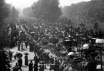 Rotten Row in Hyde Park, London, c.1890 (b/w photo) Wall Art & Canvas Prints by Constantin Guys