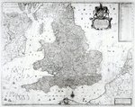 A New Map of the Kingdom of England and the Principalitie of Wales, 1669 Fine Art Print by English School