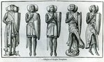 Effigies of Knight Templars (engraving) Fine Art Print by English School
