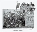 The Capture of Damietta in 1249 (engraving) Fine Art Print by English School
