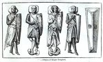 Effigies of Knights Templars (engraving) Fine Art Print by English School