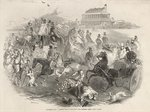 Epsom Races, 'Derby Day': Leaving the Course, from 'The Illustrated London News', 31st May 1845 Fine Art Print by English Photographer