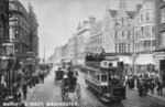 Market Street, Manchester, c.1910 (b/w photo) Wall Art & Canvas Prints by Flemish School