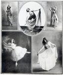 Five Ballet Dancers Fine Art Print by Hilary Dunne