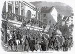 An Election Scene at Kilkenny, illustration from 'The Illustrated London News', May 14th, 1859 Fine Art Print by English School