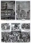 The Agitation in Ireland, illustrations from 'The Graphic', December 6th 1879 Fine Art Print by English School