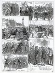 Irish Land League Agitation, illustrations from 'The Illustrated London News', October 29th 1881 (engraving) Fine Art Print by Charles Monnet