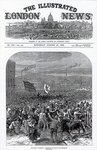 The Riots in Belfast: Orangemen attacking the procession, cover of 'The Illustrated London News', August 31st 1872