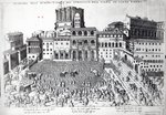 Benediction of The Pope in St.Peter's Square, c.1583 (engraving) Postcards, Greetings Cards, Art Prints, Canvas, Framed Pictures, T-shirts & Wall Art by Nikolai Pimonenko