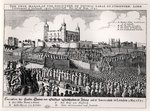 Execution of Strafford, May 12 1641 (engraving) (b/w photo) Wall Art & Canvas Prints by Armand de Polignac