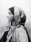 Sarojini Naidu (b/w photo) Wall Art & Canvas Prints by R. S. DeLamater