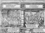Banking Scene (woodcut) (b/w photo) Wall Art & Canvas Prints by Marinus van Roejmerswaelen