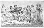 The Famous Battle Between Richard Humphreys and Daniel Mendoza, January 9th 1788 Fine Art Print by Wilf Hardy