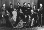 The Freud Family, c.1876 (b/w photo) Wall Art & Canvas Prints by English Photographer