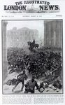 Fighting at the Liverpool General Transport Strike, cover of 'The Illustrated London News', August 19th 1911 (print) Fine Art Print by French School