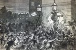 Bread Riot at the entrance to the House of Commons in 1815 Fine Art Print by American School