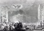 Riot in Broad Street, June 1780 (engraving) Fine Art Print by English School