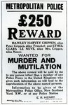 Reward poster appealing for information on Dr. Crippen, 1910 (print) Fine Art Print by French School