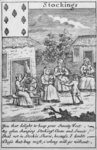 Playing Card showing workers making stockings Fine Art Print by Diego Rodriguez de Silva y Velazquez