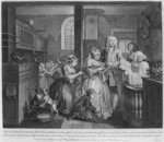 Married to an Old Maid, plate V from 'A Rake's Progress', 1735 (engraving) Postcards, Greetings Cards, Art Prints, Canvas, Framed Pictures & Wall Art by William Hogarth