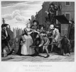 Arrested for Debt, plate V from 'A Rake's Progress' Fine Art Print by William Hogarth