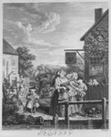 Times of the Day, Evening, 1738 Poster Art Print by William Hogarth