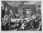 An Election Entertainment, 1755 (engraving) Fine Art Print by William Hogarth