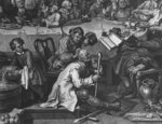 An Election Entertainment, 1755 (engraving) (detail of 396068) Wall Art & Canvas Prints by William Hogarth