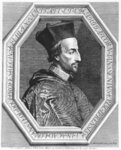 Cornelius Jansen, Bishop of Ypres (etching) Wall Art & Canvas Prints by Italian School