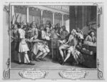 The Industrious 'Prentice Alderman of London, the Idle one Impeach'd Before Him by his Accomplice, plate X of 'Industry and Idleness', 1747 Fine Art Print by William Hogarth