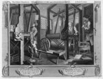 The Fellow 'Prentices at their Looms, plate I of 'Industry and Idleness', 1747 Fine Art Print by William Hogarth