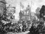 Southwark Fair, 1733 (engraving) Postcards, Greetings Cards, Art Prints, Canvas, Framed Pictures, T-shirts & Wall Art by Gustave Dore