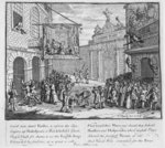 Masquerades and Operas, Burlington Gate, 1724 (engraving) Postcards, Greetings Cards, Art Prints, Canvas, Framed Pictures & Wall Art by William Hogarth