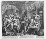 The Rake in Prison, plate VII, from 'A Rake's Progress', 1735 (engraving) Fine Art Print by William Hogarth