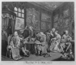 Marriage a la Mode, Plate I, The Marriage Settlement, 1745 (engraving) Fine Art Print by William Hogarth