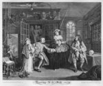 Marriage a la Mode, Plate III, The Inspection, 1745 (engraving) Fine Art Print by William Hogarth