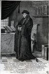 Desiderius Erasmus, 'Restorer of the Latin language' (engraving) Postcards, Greetings Cards, Art Prints, Canvas, Framed Pictures & Wall Art by Lorenzo Lotto