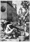 Susanna and the Elders, 1555 (etching) Fine Art Print by Jacopo Robusti Tintoretto