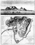 A View of the Cape of Good Hope and A Plan of the Town of the Cape of Good Hope and its Environs, published 1795 (engraving) Wall Art & Canvas Prints by English School