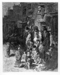 Wentworth Street, Whitechapel, from 'London, A Pilgrimage' by William Blanchard Jerrold, 1872 (engraving) Wall Art & Canvas Prints by William Hogarth