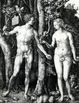 Adam and Eve, 1504 (engraving) Wall Art & Canvas Prints by Henri J.F. Rousseau