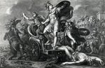 Achilles vents his rage on Hector, engraved by Domenico Cunego, 1764 (engraving) Postcards, Greetings Cards, Art Prints, Canvas, Framed Pictures & Wall Art by Graham Coton