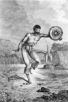 A Man of the Sandwich Islands Dancing, engraved by Myers, c.1785 (engraving) Wall Art & Canvas Prints by Felice Campi