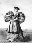 Habit of a Young Woman of Otaheite Dancing, c.1785 (engraving) Wall Art & Canvas Prints by Felice Campi