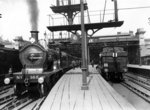 Platforms at Charing Cross Station, 1913 (b/w photo) Wall Art & Canvas Prints by Anonymous