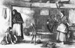 Spinning Net Thread in the Claddagh, Galway, illustration from 'The Illustrated London News', July 16 1870 (engraving) Wall Art & Canvas Prints by Diego Rodriguez de Silva y Velazquez