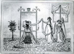 A Lady Putting on Her Hat, 1795 (etching) Wall Art & Canvas Prints by Vilhelm Hammershoi