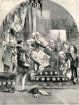 The Dismission of the Earl of Murray and the Abbot of Kilwinning by Elizabeth, 1865 (engraving) Wall Art & Canvas Prints by George Dawe